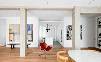 Így lehet egy lakás egyszerre élénken színes és gyönyörűen letisztult