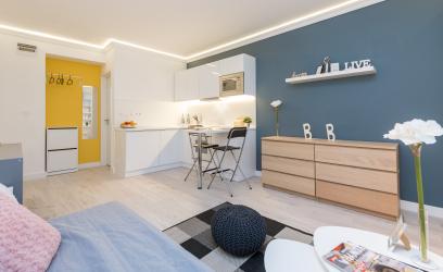Így lehet pazarul négy lakássá bontani egy budapesti nagy lakást