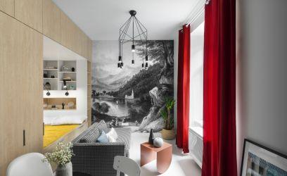 Spanyolos, pazar és nagyvonalú ez a pesti lakás – 24 négyzetméteren!